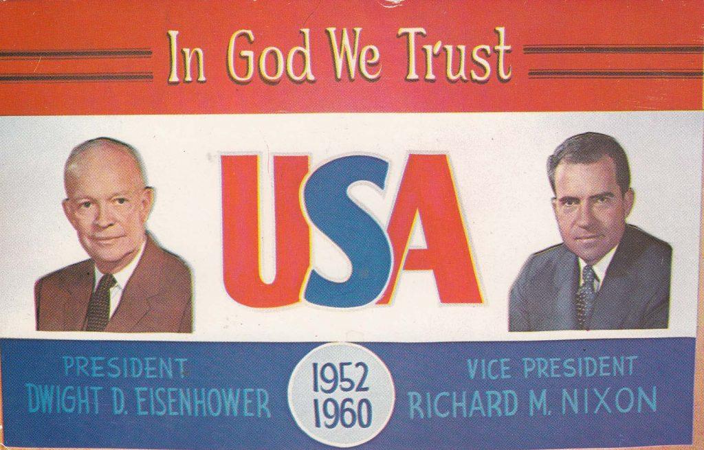 Eisenhower - Nixon Campaign Postcard