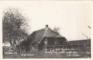 """""""Place of my birth, March 30-1850; Home of my youth until 1866."""" The town in Holland is noted but I cannot decipher it. 1906"""