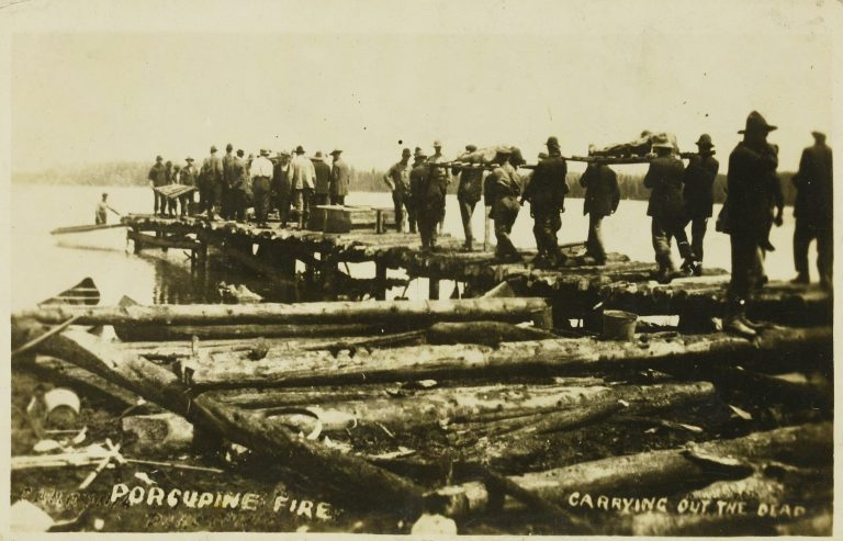 Porcupine Fire, Carrying Out the Dead, 1911
